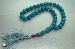 Beads from turquoise of 10 mm.