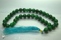 Beads from malachite of 12 mm. 32735882