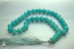 Beads 12 mm, ceramic under turquoise.