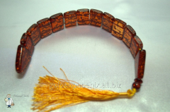 Beads from amber (imitation) cross over (20 mm.)