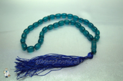 Beads from plastic blue