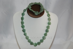 Beads and bracelet from a stone Nephrite