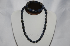 Beads and bracelet from a stone Lazurite 107620865