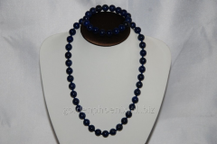 Beads and bracelet from a stone Lazurite 107623343
