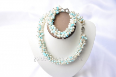 Beads and bracelet from a stone Pearls 107633726