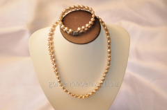 Beads a bracelet from a stone Pearls 107634054