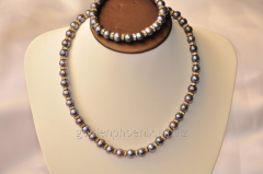 Beads and bracelet from a stone Pearls 107635224