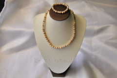 Beads and bracelet from a stone Pearls 107639548