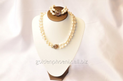Beads and bracelet from a stone Pearls 107658252