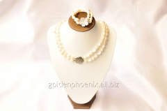 Beads and bracelet from a stone Pearls 107658888
