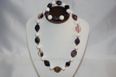 Beads and bracelet from a stone Fluorite