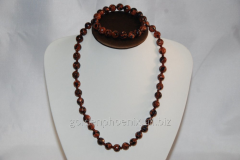 Beads and bracelet from a stone Aventurine