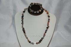 Beads and bracelet from a stone Agate 111421967