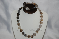 Beads and bracelet from a stone Agate 113255775