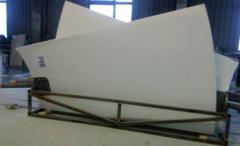 Blades fiberglass for the ventilatory cooler