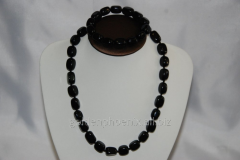 Beads and bracelet from a stone Agate 113258421