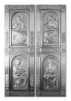 Shod copper church doors, Evangelista