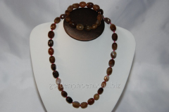 Beads and bracelet from a stone Agate 119699074