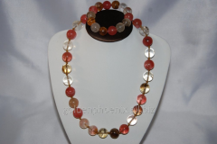 Beads and bracelet from a stone Chalcedony