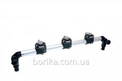 Targa of 610 mm with three locks