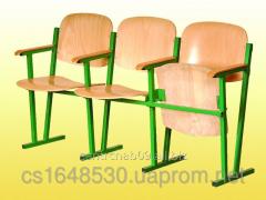 Assembly hall chair, 3-seater, 1550х520х830 mm