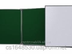 Board classroom 3kh - folding 3000х1000 mm green +