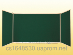 The board is classroom, 3-folding, green,
