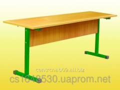 The bench is 2-seater, folding, without back,