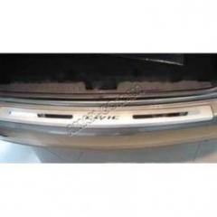 Накладка на задний бампер на Honda Civic, защитные