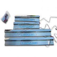 Накладки на пороги (с подсветкой), Lexus LX-470,