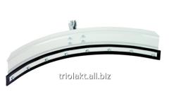Scraper for solid and liquid manure, semicircular