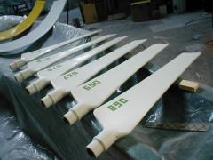 Fiberglass blades to the ventilatory VG-25, length