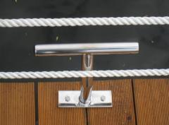 Bollards from stainless steel, mooring elements