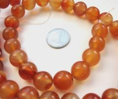 Beads round natural agate