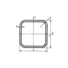 Pipe profile square GOST 8639-82 10 of mm