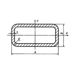 Pipe profile rectangular GOST 8645-68 10 of mm