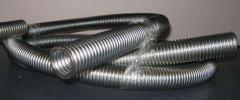 Corrugation for removal of exhaust gases of the