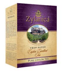 Черный листовой чай Zylanica в картонной упаковке