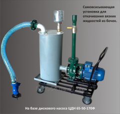 Mobile pump installation for pumping of barrels