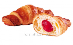 Croissant with a cherry stuffing
