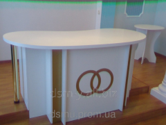 Table for the REGISTRY OFFICE
