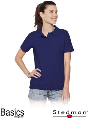 T-shirt polo female ST3100 dark blue