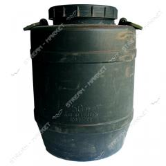 Barrel of propilenovy 50 l black not food from