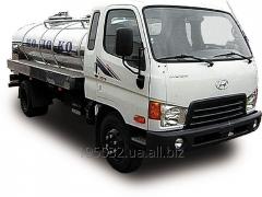 Car cargo Hyundai milk tanker