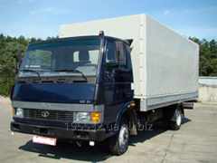Car cargo onboard Tata BAZ of T713.10 awning
