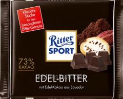 Ritter Sport Edel Bitter chocolate of black 73% of