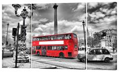 Картина модульная 239 красный автобус