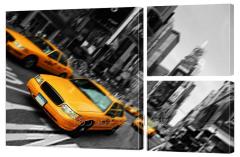 Картина модульная 17 Такси в Нью-Йорке