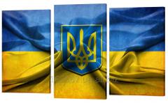 Картина модульная 400 Герб та прапор України