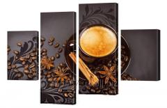 Картина модульная 221 кофе